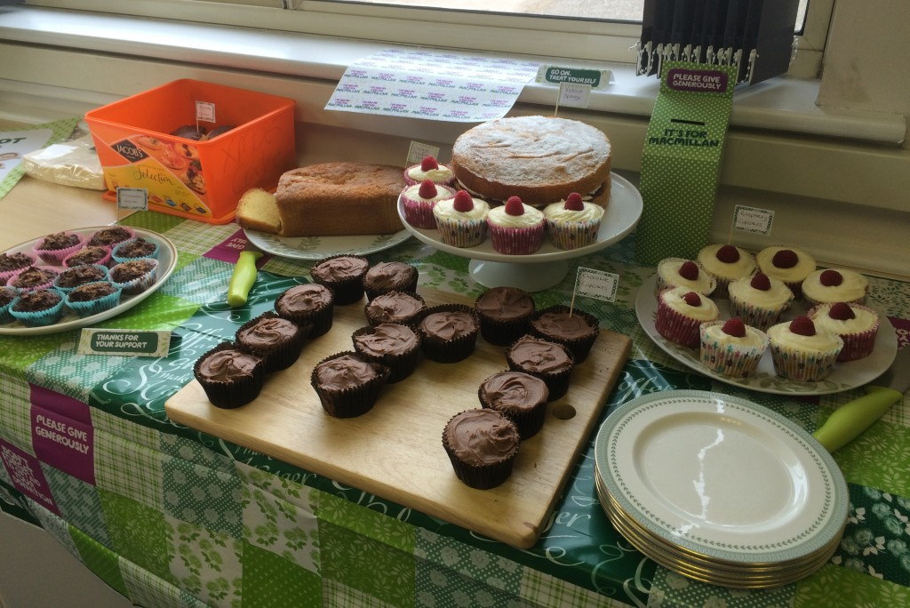 Selection of cakes for Macmillan Coffee Morning
